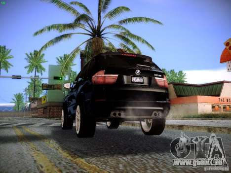 BMW X5M 2011 pour GTA San Andreas vue intérieure