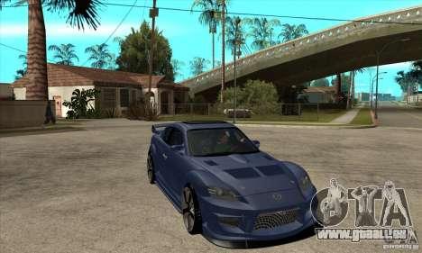 Mazda RX8 für GTA San Andreas Rückansicht