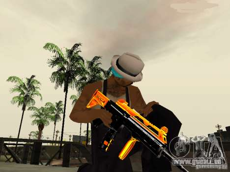 Black and Yellow weapons für GTA San Andreas dritten Screenshot