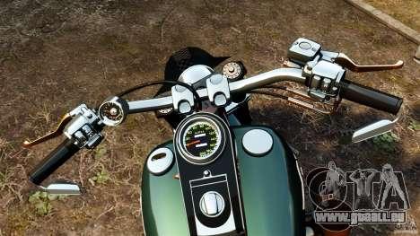 Harley Davidson Fat Boy Lo Racing Bobber für GTA 4 Rückansicht