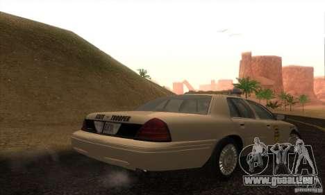 Ford Crown Victoria Iowa Police pour GTA San Andreas laissé vue