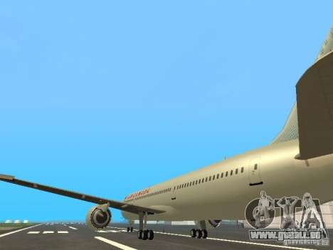 Boeing 787 Dreamliner Air Canada für GTA San Andreas zurück linke Ansicht