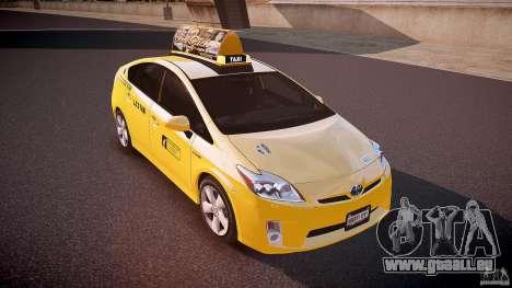 Toyota Prius LCC Taxi 2011 pour GTA 4 est un côté