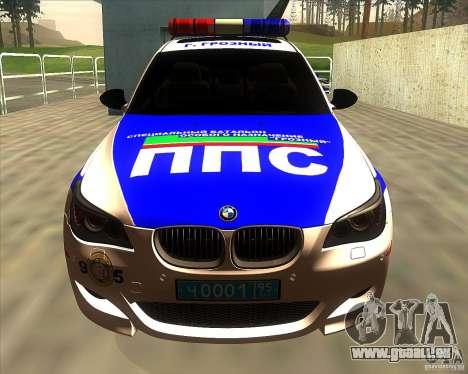 BMW M5 E60 Police pour GTA San Andreas vue intérieure