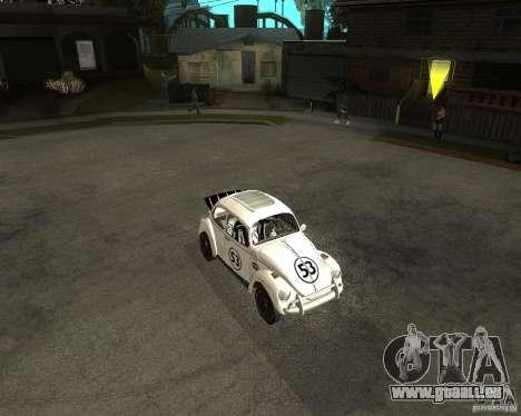 Volkswagen Beetle Herby pour GTA San Andreas laissé vue