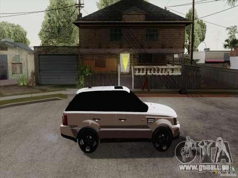 Range Rover Tuning pour GTA San Andreas sur la vue arrière gauche