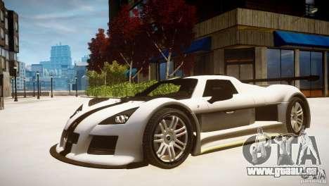 Gumpert Apollo Sport KCS Special Edition v1.1 pour GTA 4 Vue arrière de la gauche