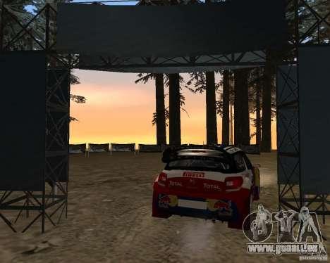 Citroen DS3 WRC pour GTA San Andreas sur la vue arrière gauche
