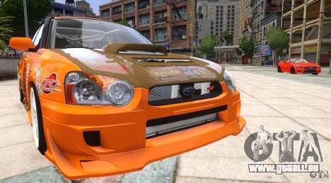 Subaru Impreza WRX STi GDB Team Orange pour GTA 4 Vue arrière