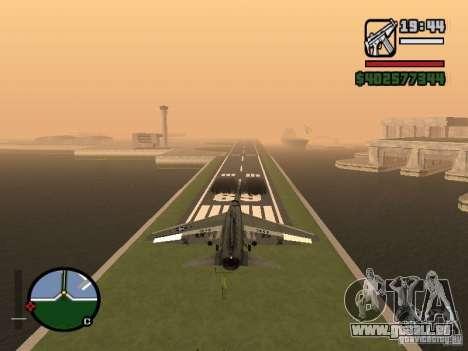 A-7 Corsair II pour GTA San Andreas sur la vue arrière gauche