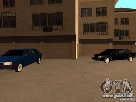 VAZ 21099 Limousine pour GTA San Andreas vue de dessus