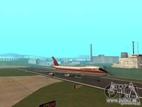 Boeing 747 Air Canada für GTA San Andreas Innenansicht
