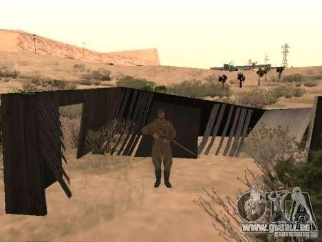 WORLD WAR II sowjetischer Soldat-Haut für GTA San Andreas zweiten Screenshot
