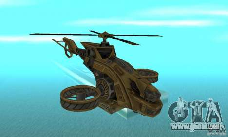 Un hélicoptère de la jeu Brown de TimeShift pour GTA San Andreas