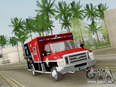 Ford E-350 AMR. Bone County Ambulance für GTA San Andreas obere Ansicht
