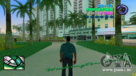 Radar carré GTA Vice City pour la troisième écran