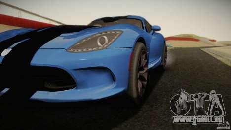 Dodge Viper GTS 2013 pour GTA San Andreas laissé vue
