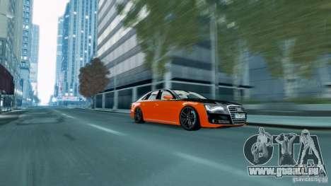 Audi A8 LED 2012 für GTA 4 linke Ansicht