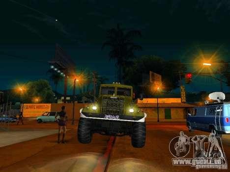 Camion KrAZ Parade pour GTA San Andreas vue arrière