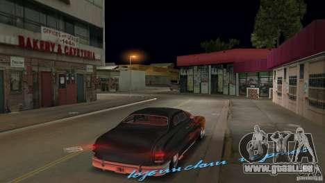 Cuban Hermes HD pour GTA Vice City sur la vue arrière gauche