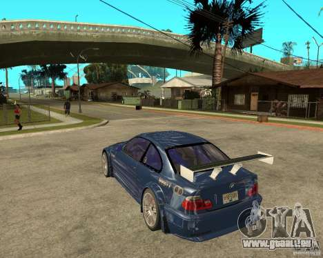 BMW M3 GTR von Need for Speed Most Wanted für GTA San Andreas linke Ansicht