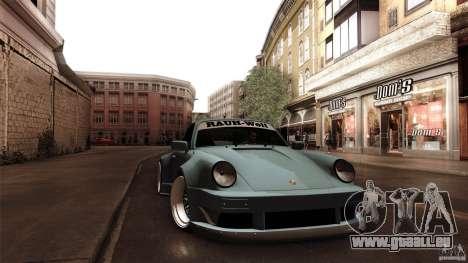 Porsche 911 Turbo RWB DS für GTA San Andreas Rückansicht