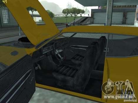 Ford Torino 70 pour GTA San Andreas vue intérieure