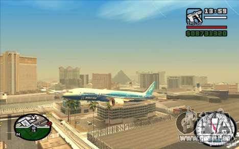 Boeing 787 Dreamlinear pour GTA San Andreas