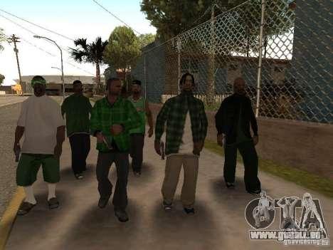 Nouveaux skins le Gang de Grove Street pour GTA San Andreas quatrième écran