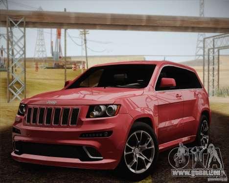 Jeep Grand Cherokee SRT-8 2012 pour GTA San Andreas vue intérieure
