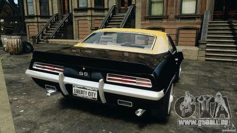 Chevrolet Camaro SS 350 1969 für GTA 4 hinten links Ansicht