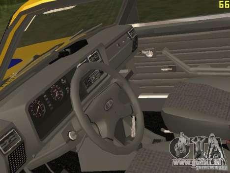 VAZ 2107 AUTO INSPEKTION für GTA San Andreas Rückansicht