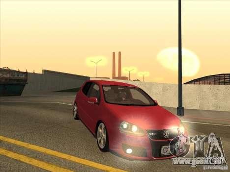 VW Golf Mk5 GTi - Stock: Tunable pour GTA San Andreas vue arrière