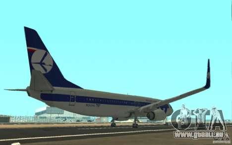 Boeing 737 LOT Polish Airlines für GTA San Andreas rechten Ansicht