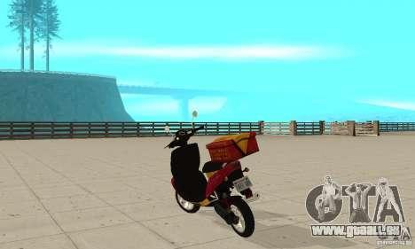 GTAIV Pizzaboy pour GTA San Andreas sur la vue arrière gauche