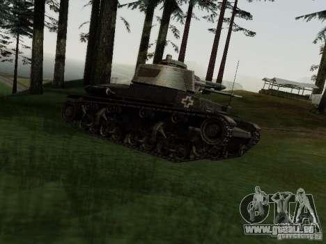 Pzkpfw-35t pour GTA San Andreas laissé vue
