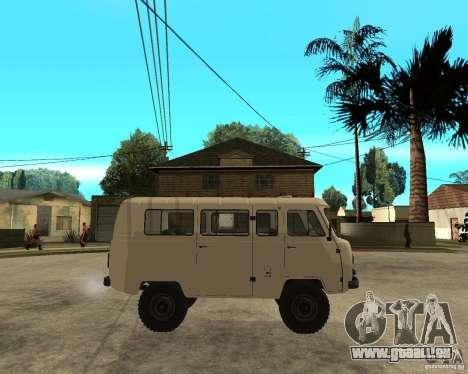 UAZ 2206 pour GTA San Andreas vue de droite