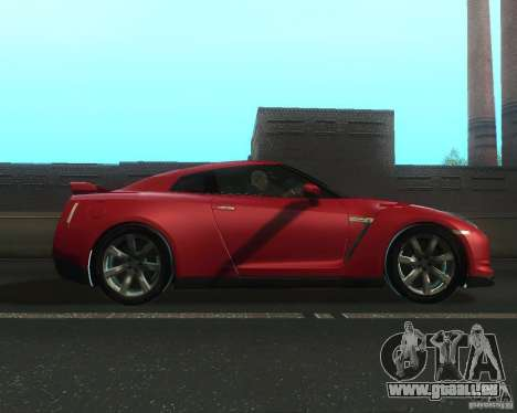 Nissan GTR R35 Spec-V 2010 Stock Wheels für GTA San Andreas linke Ansicht