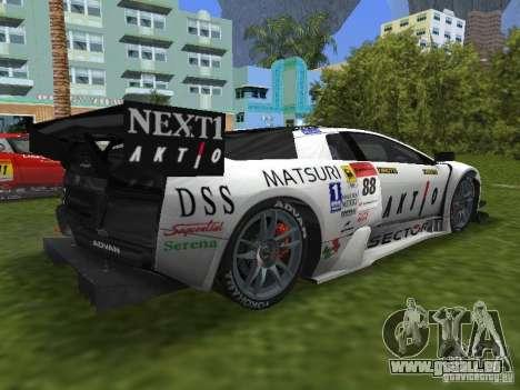 Lamborghini Murcielago R-GT für GTA Vice City linke Ansicht
