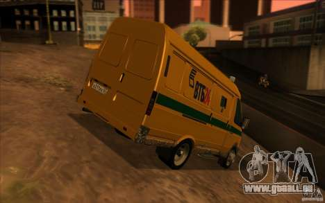 Services de transport Gazelle 2705 pour GTA San Andreas vue arrière