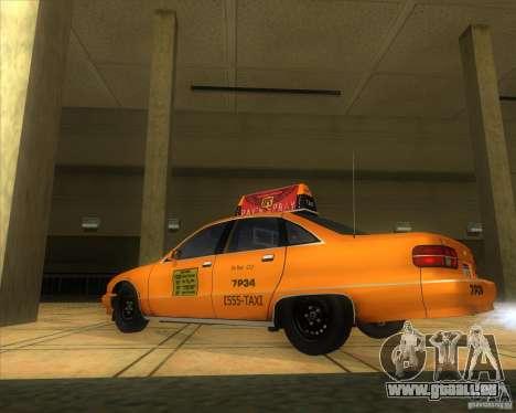 Chevrolet Caprice Taxi 1991 pour GTA San Andreas laissé vue