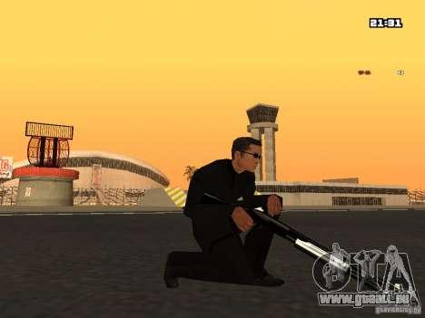Blue Weapon Pack pour GTA San Andreas quatrième écran