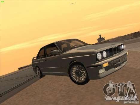 BMW M3 E30 1991 für GTA San Andreas zurück linke Ansicht