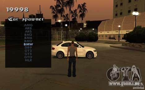 Vehicles Spawner pour GTA San Andreas deuxième écran