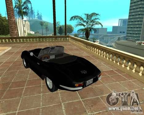 Jaguar E-Type 1963 pour GTA San Andreas laissé vue