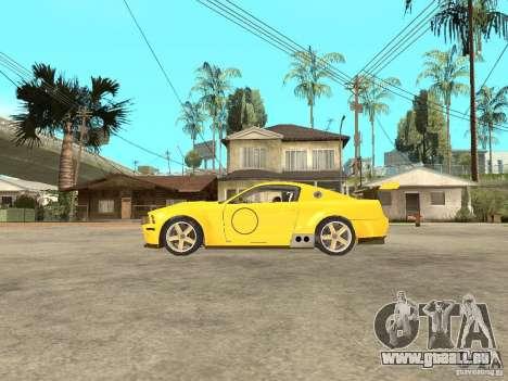 Ford Mustang GT-R pour GTA San Andreas laissé vue