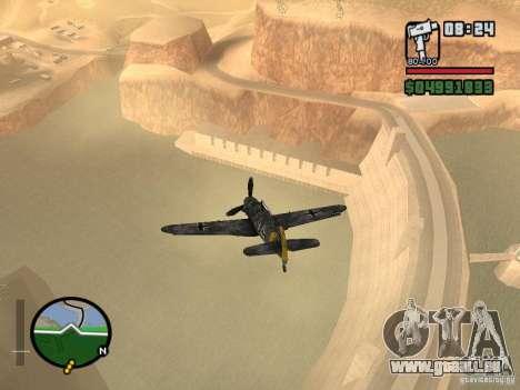BF-109 G-16 für GTA San Andreas rechten Ansicht