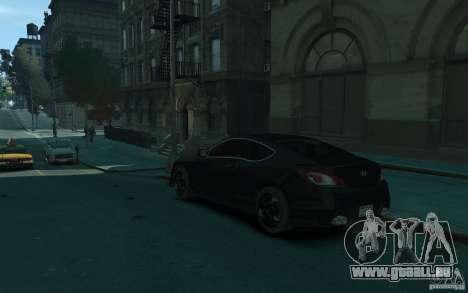 Hyundai Genesis HKS v1.1 für GTA 4 hinten links Ansicht