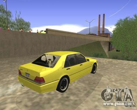 Mercedes Benz 600SEL AMG V140 pour GTA San Andreas sur la vue arrière gauche