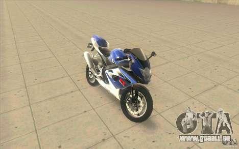 Suzuki GSXR 1000 pour GTA San Andreas